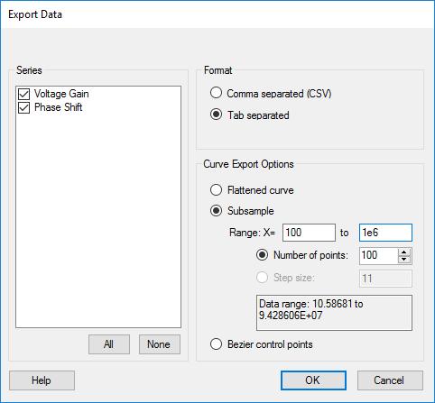 Export digitized data